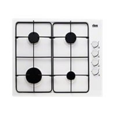 Faure FGG62414WA table de cuisson au gaz - 60 cm - blanc - Porcelaine émail