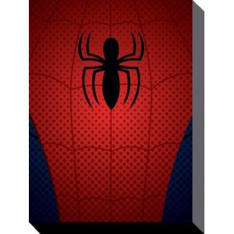 spider man poster reproduction sur toile tendue sur ch ssis logo araign e 40x30 cm top. Black Bedroom Furniture Sets. Home Design Ideas