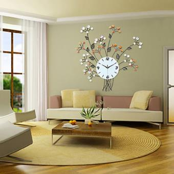 horloge murale design floral en fer forg achat prix fnac. Black Bedroom Furniture Sets. Home Design Ideas