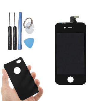 vitre tactile ecran lcd sur chassis pour iphone 4s noir coque housse de protection. Black Bedroom Furniture Sets. Home Design Ideas