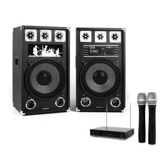 set karaoke star 12a enceinte micro sans fil 800w. Black Bedroom Furniture Sets. Home Design Ideas