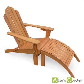fauteuil de jardin en bois adirondack salamanca eucalyptus fsc avec repose pieds alice 39 s. Black Bedroom Furniture Sets. Home Design Ideas