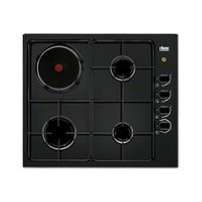 Faure FGM62444BA table de cuisson gaz et électrique - 60 cm - noir - Porcelaine émail