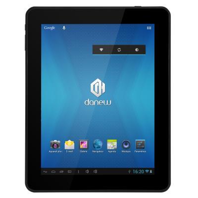 Tablette tactile avec écran 9,7 - Processeur Allwinner A10 1.2 Ghz - Mémoire 1Go - Stockage 8Go - Port MicroSD (jusqua 32Go) - Webcam avant 0.3Mpixels, arriere 2Mpixels - Sortie HDMI - WiFi - Batterie 6000mAh - Android 4.0.4 - Garantie 1 an