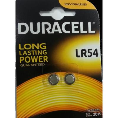 Lot de 4 piles LR54 Duracell ( 2 blister de 2 piles)