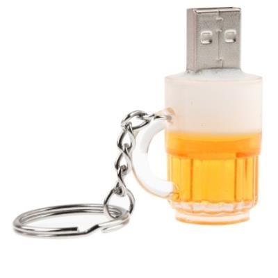 Clé USB 8GB porte clé forme bouteille de bière en plastique (jaune et blanc) Clé USB 8GB porte clé forme bouteille de bière en plastique jaune et blanc Description : 1. Clé USB de capacité de 8GB de bonne qualité et de haute performance. 2. La Clé USB est