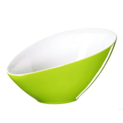 Image du produit Saladier asymétrique porcelaine Vongole Vert 32,5 cm - XXL