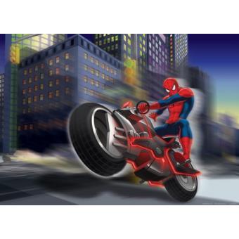 Spider man papier peint photo poster motocyclette 115x160 cm top prix fnac - Spider man moto ...
