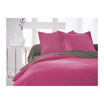 housse de couette lf unie 220 x 240 cm couleur rose achat prix fnac. Black Bedroom Furniture Sets. Home Design Ideas