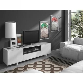 Aura meuble tv 155cm avec 1 niche blanc achat prix - Meuble tv avec niche ...