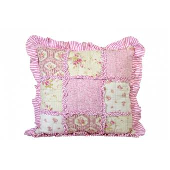 coussin patchwork en tissu rose achat prix fnac. Black Bedroom Furniture Sets. Home Design Ideas