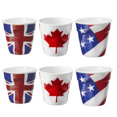 Image du produit 6 Tasses froissées expresso Revol UK-Canada-USA 8 cl