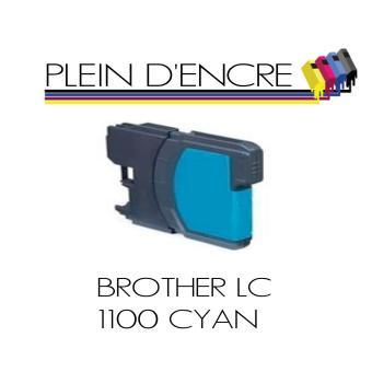 cartouche d 39 encre compatible brother lc1100 lc980 cyan bleu avec niveau d 39 encre plein. Black Bedroom Furniture Sets. Home Design Ideas