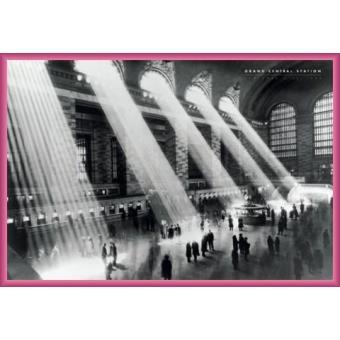 poster encadr new york grand central station 1934 61x91 cm cadre plastique pink top. Black Bedroom Furniture Sets. Home Design Ideas