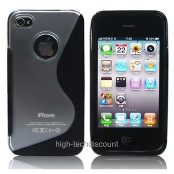 housse etui coque silicone gel noir pour apple iphone 4s iphone 4 film ecran achat prix. Black Bedroom Furniture Sets. Home Design Ideas