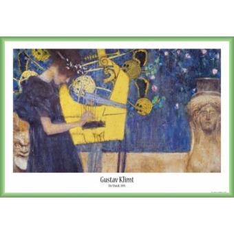poster encadr gustav klimt la musique 1895 61x91 cm cadre plastique vert top prix sur. Black Bedroom Furniture Sets. Home Design Ideas