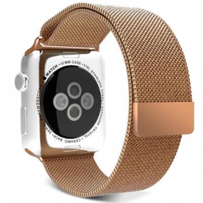Personnalisez votre Apple Watch 38mm avec ce Bracelet Métal Milanais Or Rose en acier inoxydable raffinéCe bracelet est livré avec Connecteur il est conçu pour mettre en place ou changer facilement le bracelet de votre Apple Watch Bracelet flexible en aci