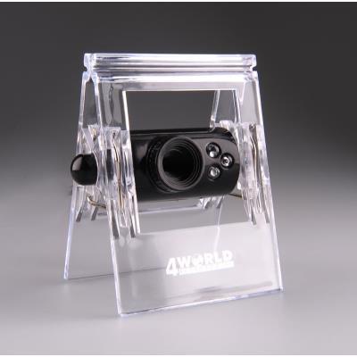 Numéro de la pièce dorigine 10131 Nom du produit Webcam 1,3 Mpx 4World USB 2.0 avec rétro-éclairage LED + micro, universel Producteur 4World Classe de produit Web-caméra Résolution 640 x 480 pixels Mode vidéo 640 x 480 pixels Interface USB USB 2.0 Flash N