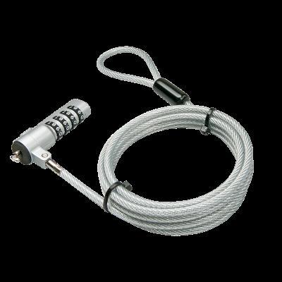 Le câble antivol multiusage LINDY est adapté à tout ordinateur portable ou autre périphérique disposant d´un slot Kensignton. Verrouillage à code 4 chiffres Câble métallique avec gaine en matière plastique transparente Adapté pour ordinateur portable et a