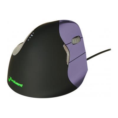 Souris verticale USB 6 boutons noire Mouse 4 petite taille - droitier La souris verticale évite les torsions de l´avant-bras pour un meilleur confort et une bonne santé. Elle permet d´adopter une posture neutre verticale qui évite généralement à l´avant-b