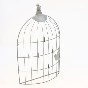 cadre photos p le m le avec 6 pinces d co cage oiseaux. Black Bedroom Furniture Sets. Home Design Ideas