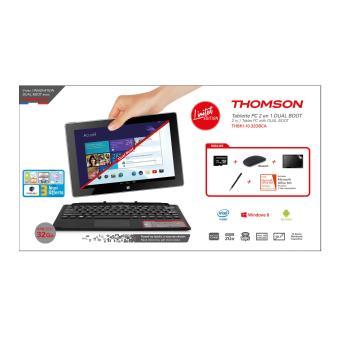 tablette tactile 2 en 1 dualboot windows android 10 39 39 thomson accessoires achat prix fnac. Black Bedroom Furniture Sets. Home Design Ideas