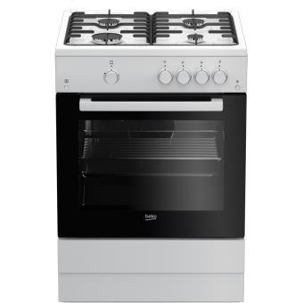 Cuisinieres tout gaz beko fsg 62010 fw achat prix fnac - Cuisiniere piano tout gaz ...