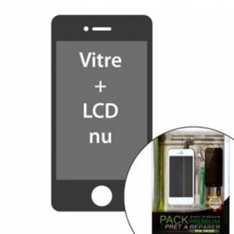 iphone 5c kit pr t r parer vitre lcd blanc sans l ments. Black Bedroom Furniture Sets. Home Design Ideas