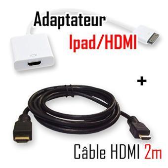 mp CABLING Adaptateur tele HDMI pour tablette Ipad ou Iphone Cable M w