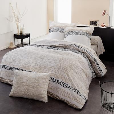 La parure Axel Naturel est à la fois chic et authentique. En Lyocell, elle est idéale pour créer un intérieur de chambre confortable et original. Le Lyocell est de la fibre de bois d´eucalyptus, respectueuse de l´environnement, car produite à partir d´un