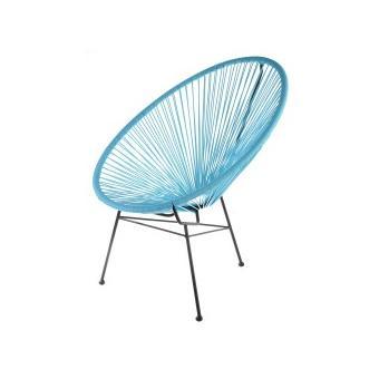 fauteuil acapulco bleu turquoise achat prix fnac. Black Bedroom Furniture Sets. Home Design Ideas