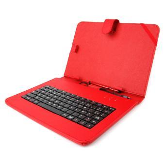 Etui rouge clavier int gr azerty fran ais pour - Etui clavier tablette 10 pouces ...