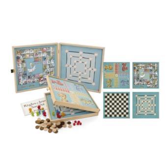 jeujura 8150 malette de jeu coffret de jeux classiques 50 r gles pions bois achat. Black Bedroom Furniture Sets. Home Design Ideas