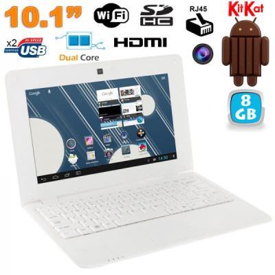 Mini PC Android 4.4 Netbook Ultra portable 10 pouces WiFi 8Go Blanc