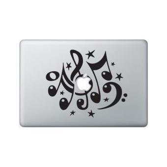 Stickers Macbook Musique Macbook Air 11 pouces Rouge