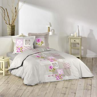 parure de couette en flanelle 240x220 romantique achat prix fnac. Black Bedroom Furniture Sets. Home Design Ideas