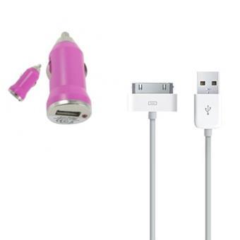 Mini chargeur rose de voiture avec son cable usb iphone 3g 3gs iphone 4 4s achat prix fnac - Chargeur iphone 6 fnac ...