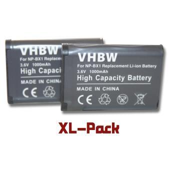 votre 2 batteries 1000mAh pour Sony Cybershot DSC RX1R, DSC RX100 II