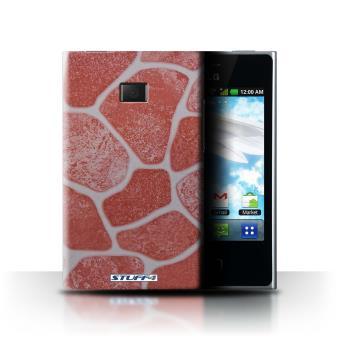 LG Optimus L3 E400 / Sol en Pierre/Red Design / Pierre/Rock Collection