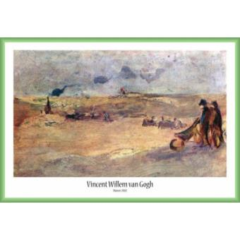 poster encadr vincent van gogh dunes avec figures 1882 61x91 cm cadre plastique vert. Black Bedroom Furniture Sets. Home Design Ideas