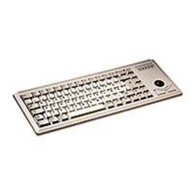 Il vous faut un dispositif de pointage mais vous n´avez pas la place pour une souris? Voici la solution à votre problème : léger, peu encombrant avec trackball intégré, un produit très facile à intégrer - le Slim Line clavier miniature G84-4400.