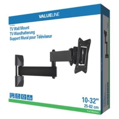 tv wall mount full motion 3-way 10-32 25-82 cm 30 kg
