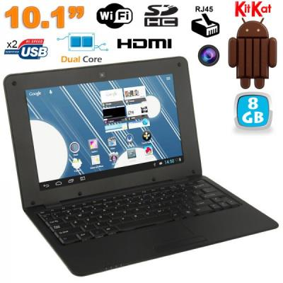 Mini PC Android 4.4 Netbook Ultra portable 10 pouces WiFi 8Go Noir