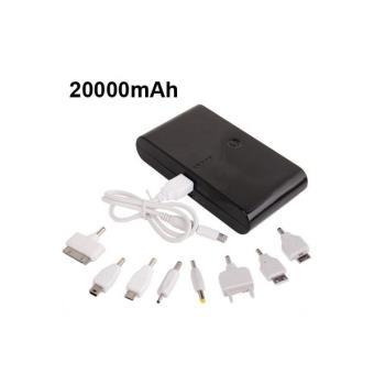batterie de secours externe portable universelle 20000 mah noir achat prix fnac. Black Bedroom Furniture Sets. Home Design Ideas