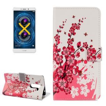 Huawei honor 6x housse etui cuir pu fleurs de cerisier for Housse honor 6x