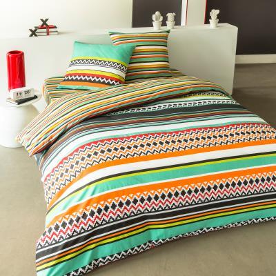 La parure Mexico est à la fois festive et ultra-colorée. Dans des couleurs très vives, cette parure 100% coton apportera style et originalité à votre chambre. Ce drap housse est vendu individuellement et peut être complété par d´autres articles d