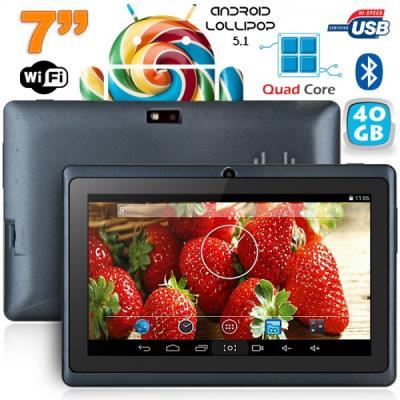 Cette tablette tactile 7 pouces sera l´équilibre parfait entre le choix de la puissance et de l´ergonomie. Equipée du système Android Lollipop, elle utilise la puissance d´Android pour vous permettre de profiter au mieux de toutes ses fonctions. Cette tab