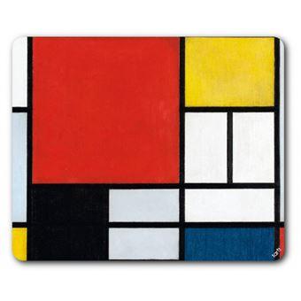 Piet mondrian tapis de souris composition avec grand plan rouge 1921 19x2 - Tapis style mondrian ...