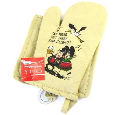 Image du produit Les Trésors De Lily [M4546] - Set de gant + manique ´Alsace´ écru (Gleck)