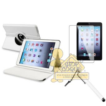 etui rotatif blanc pour ipad air 1stylet 1film achat prix fnac. Black Bedroom Furniture Sets. Home Design Ideas